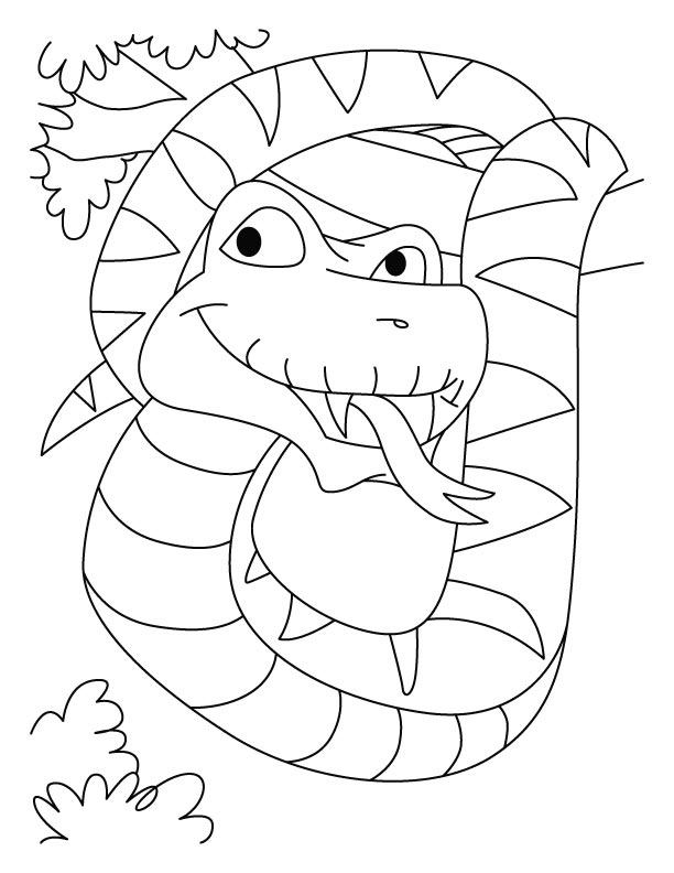 612x792 Python Coloring Pages Download And Print For Free