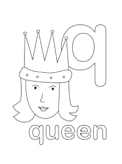Q Coloring Page