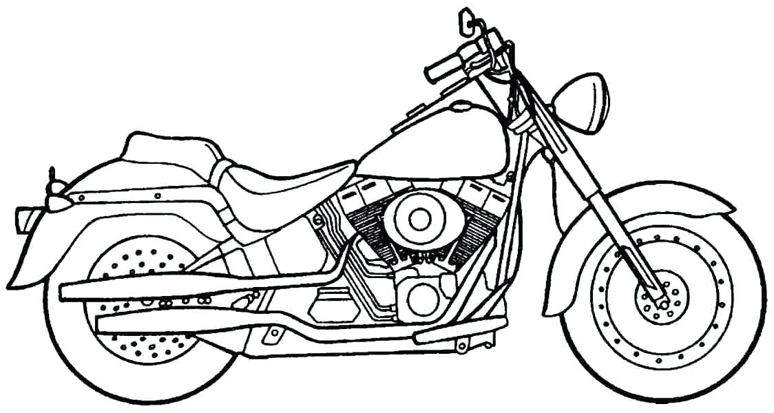 1124x600 Free Printable Motorcycle Coloring Pages For Kids Motorcycle