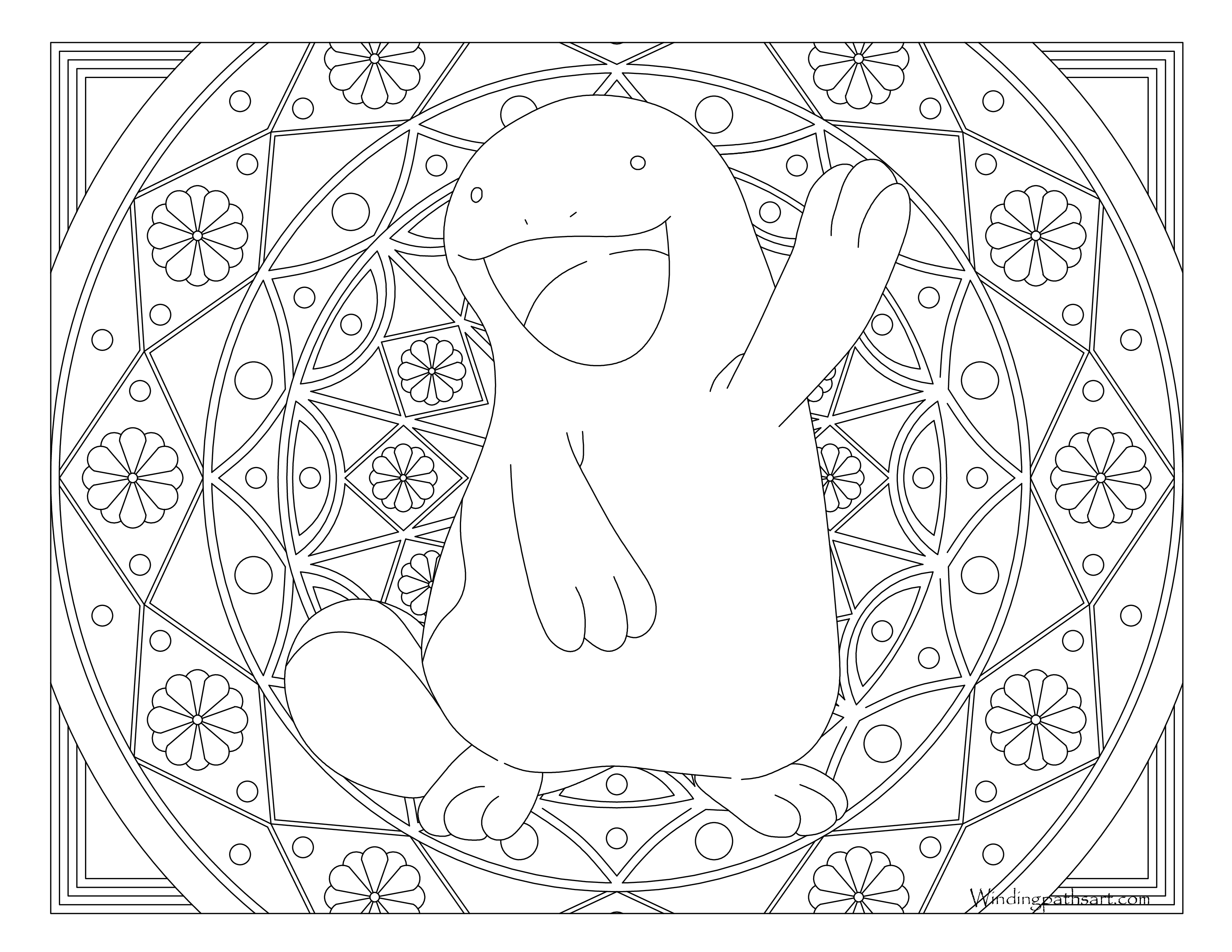 3300x2550 Adult Pokemon Coloring Page Quagsire