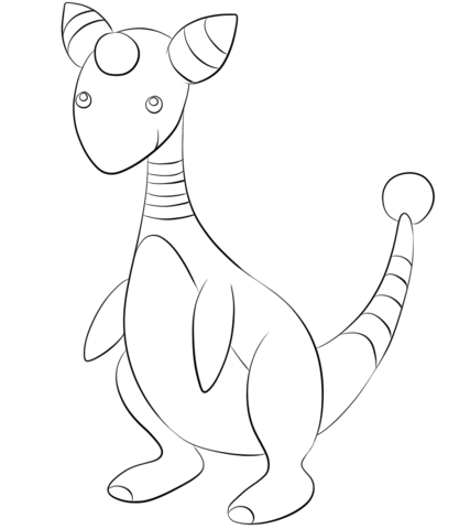427x480 Click To See Printable Version Of Ampharos Coloring Page Lineart