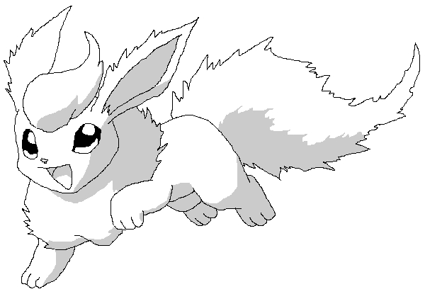 600x415 Cool Coloring Pokemon Coloring Pages Flareon For Flareon Pokemon