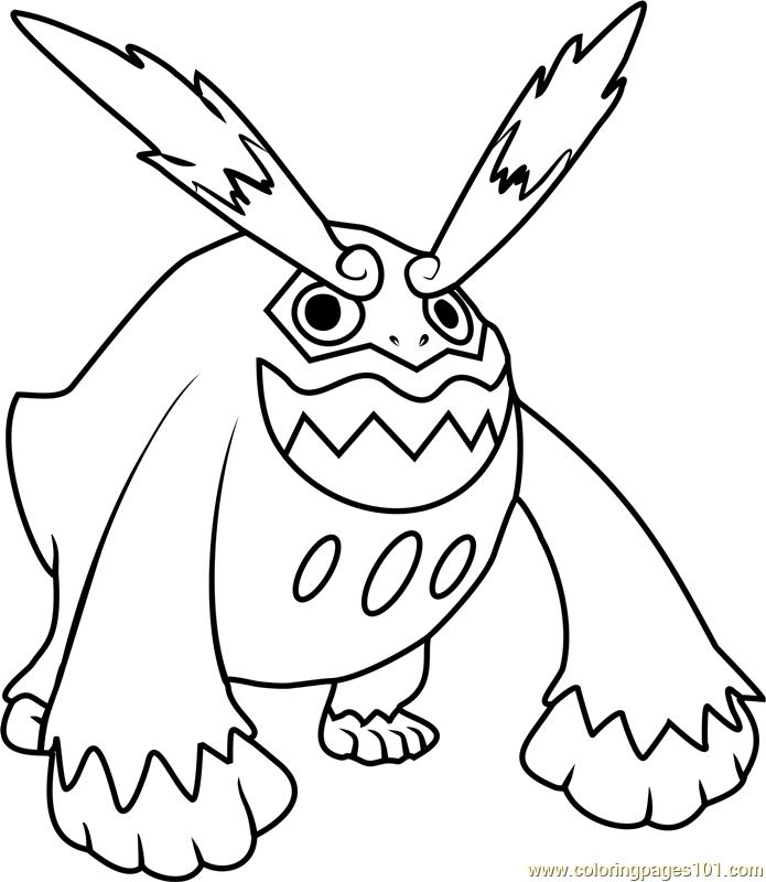 695x800 Darmanitan Pokemon Coloring Page