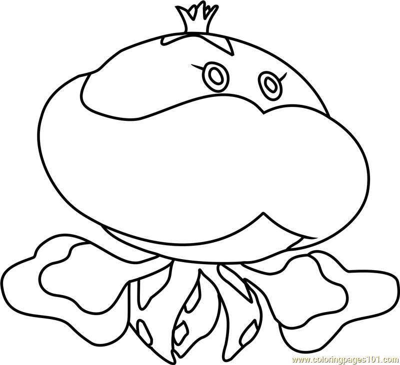 800x731 Jellicent Pokemon Coloring Page