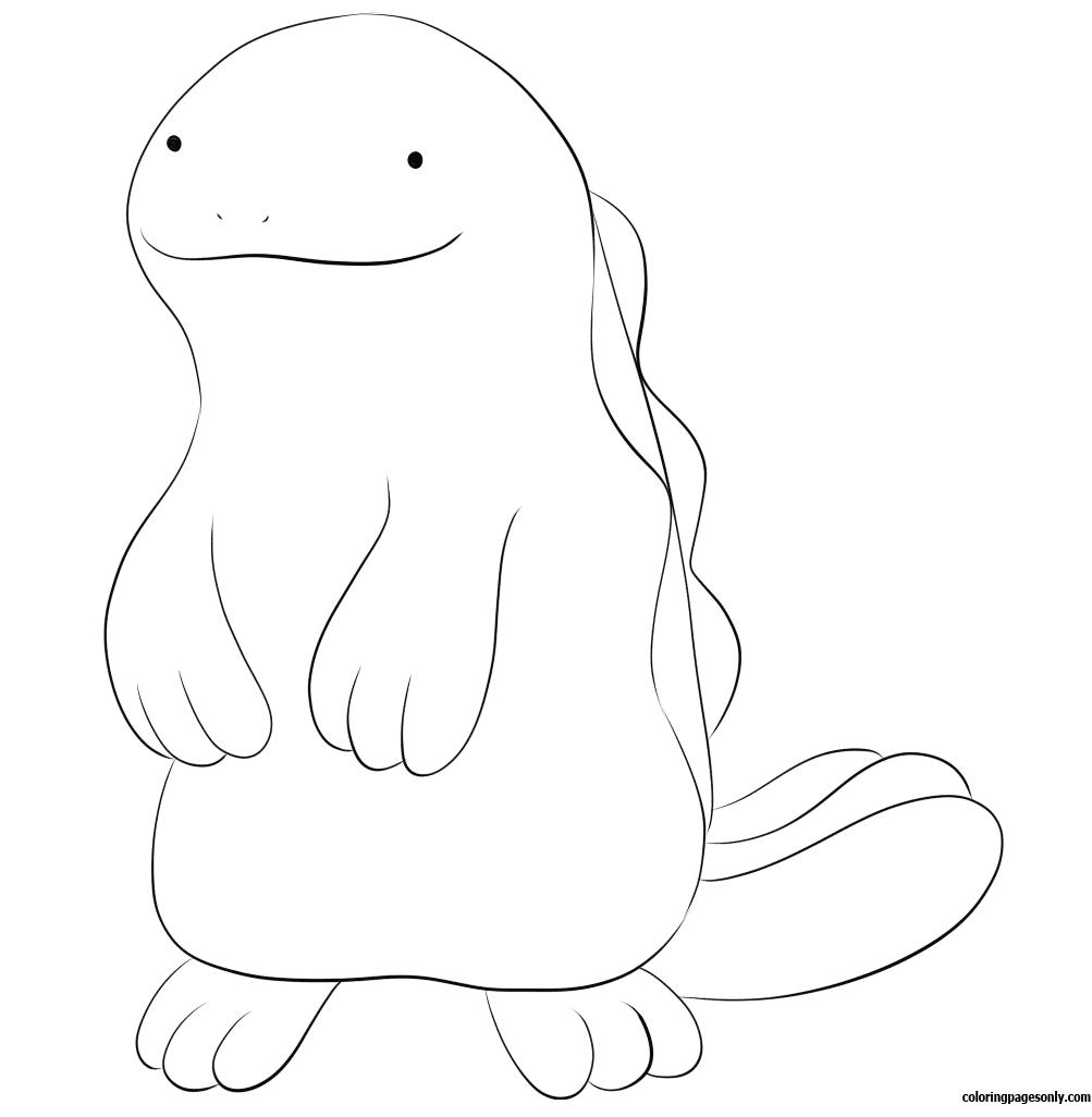 1003x1026 Quagsire Pokemon Coloring Page