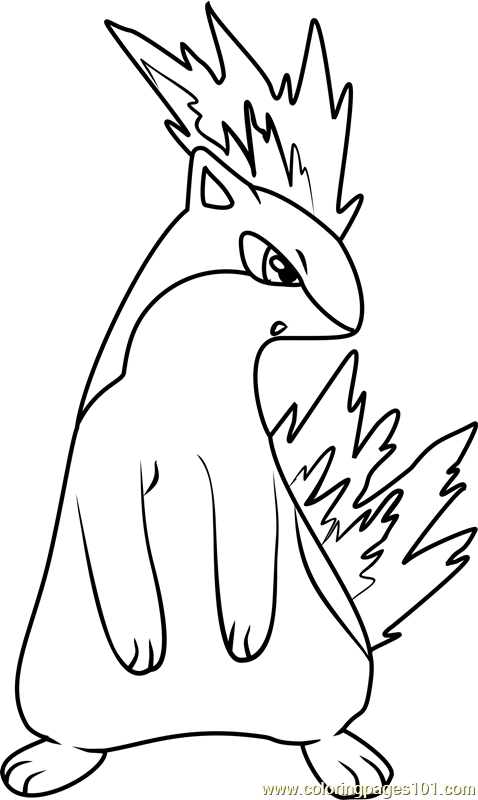 478x800 Quilava Pokemon Coloring Page