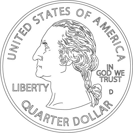 466x466 Excellent Design Coin Coloring Pages Page For Coins On Images