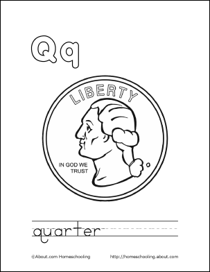 303x392 Letter Q Coloring Book