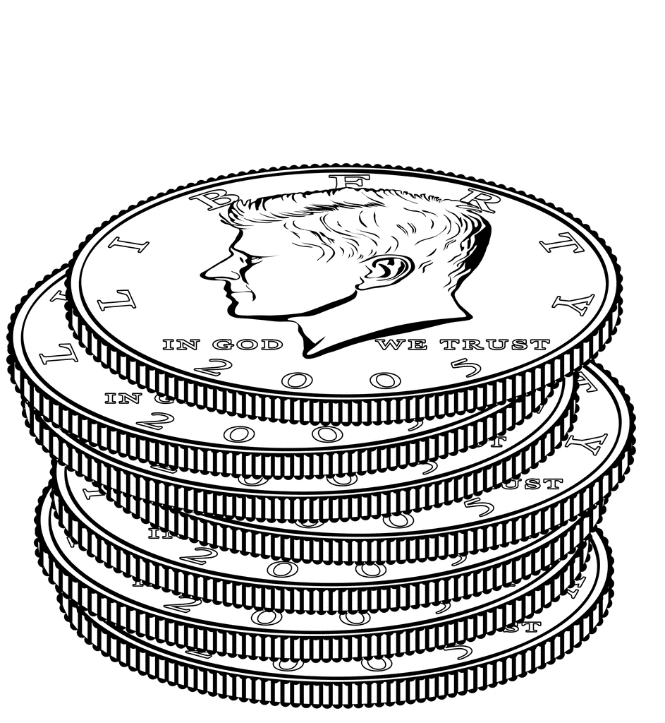 943x1024 Coin Coloring Page Aecost Net Gold Coin