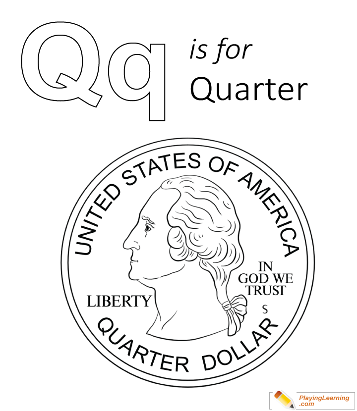 720x830 Q Is For Quarter Coloring Page For Kids