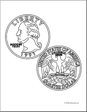 304x392 Quarter Coloring Page Images Daycare Forms Daycare