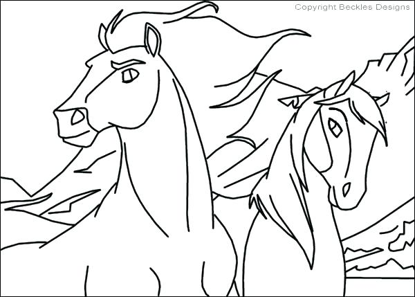600x429 Cartoon Horse Coloring Pages Horse Coloring Pages Spirit The Horse