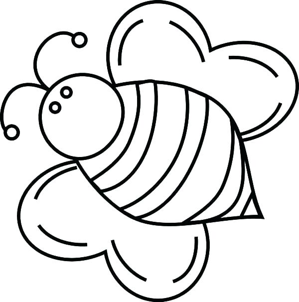 600x606 Bees Coloring Pages Baby Honey Bee Coloring Pages Queen Bee