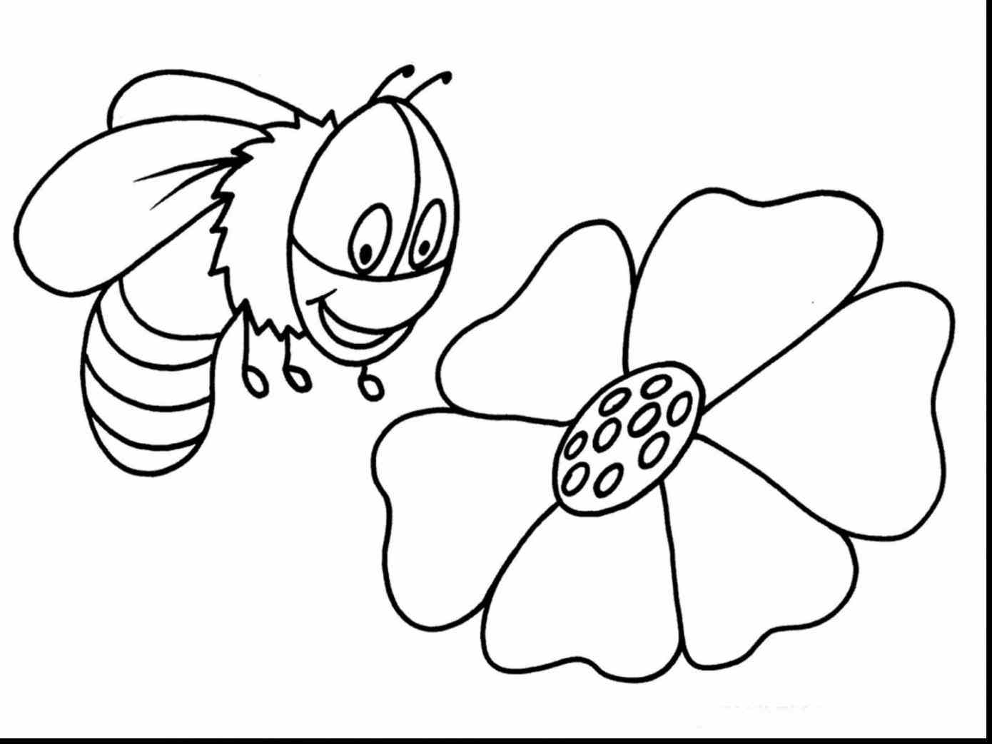 1390x1043 Best Of Bumble Bee Coloring Page Collection Printable Coloring Sheet