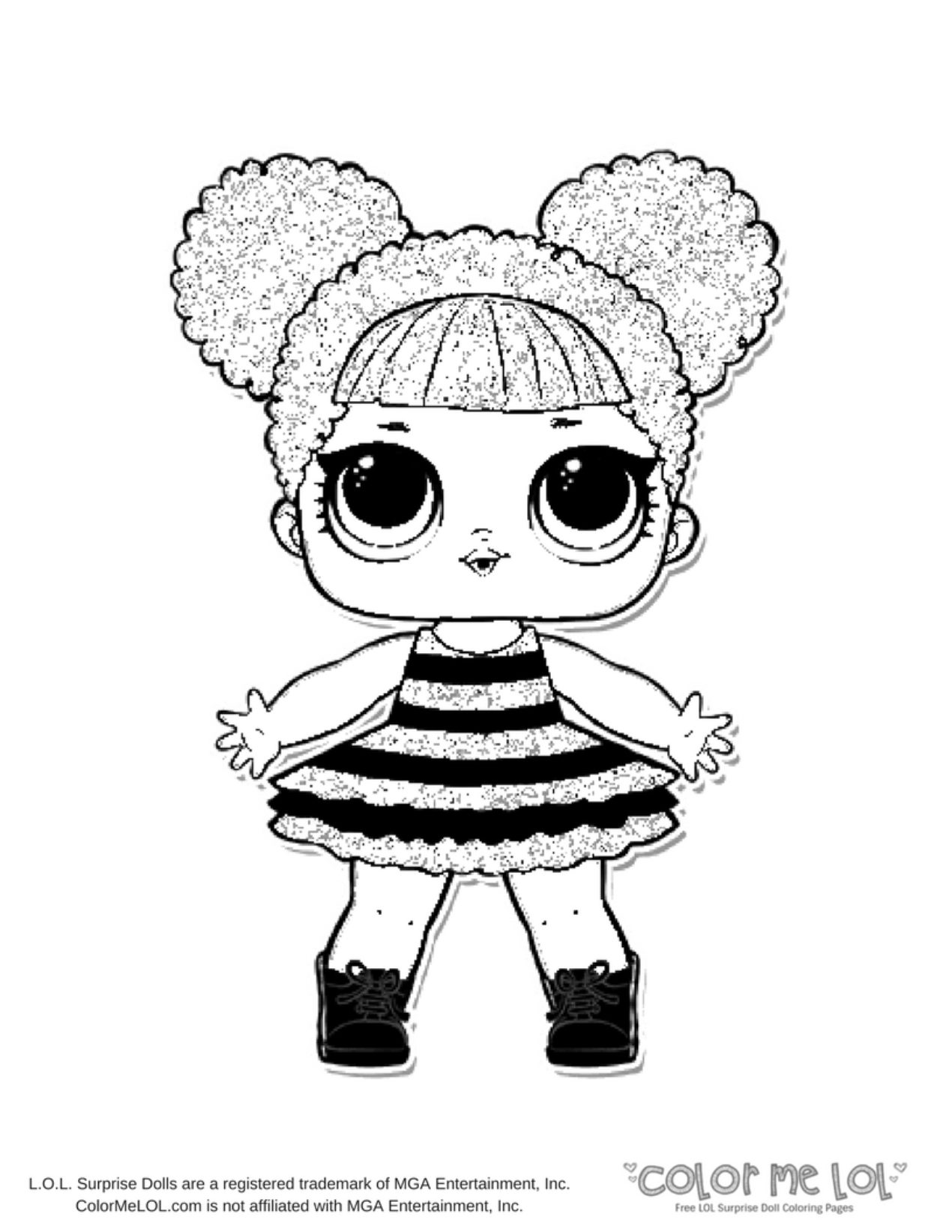 1270x1643 Color Me Lol Queen Bee Coloring Page