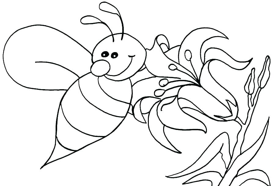 900x607 Honey Bee Coloring Pages With Honey Bee Coloring Pages Coloring