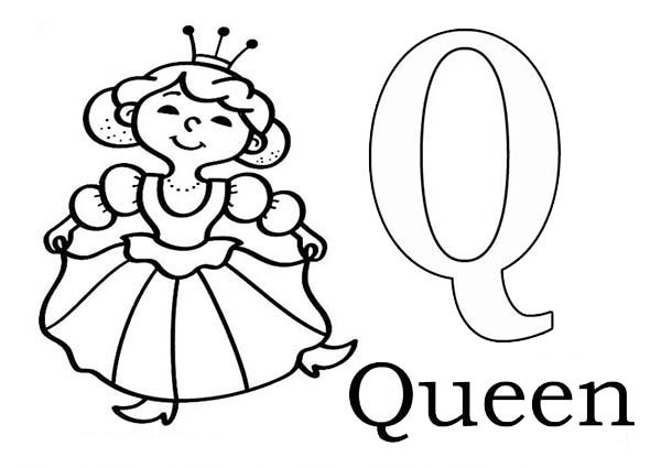 600x425 Letter Q Coloring Pages Letter Q Is For Queen Bee Coloring Page