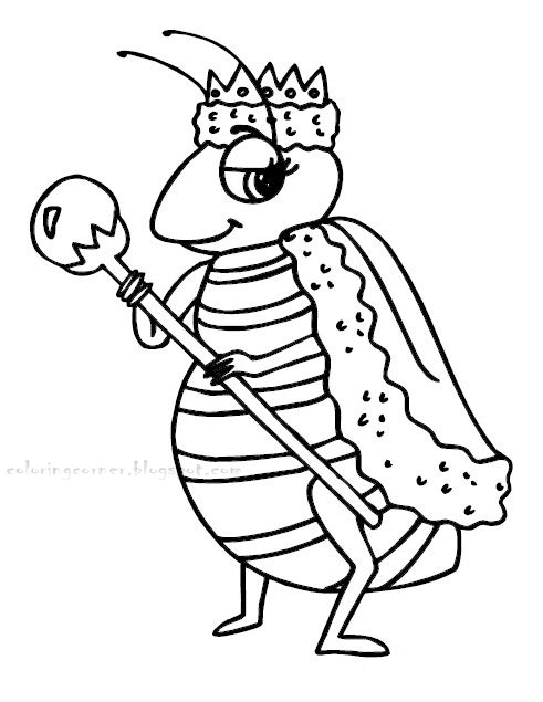 491x635 Queen Bee Coloring Page