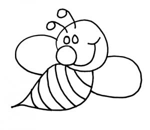 300x260 Bee Coloring Pages Bee Coloring Pages Bees And Teacher