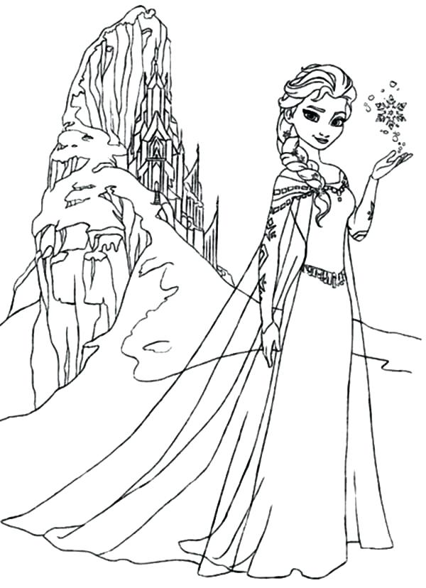 600x828 Queen Coloring Page Queen Amazing Ice Castle Coloring Pages Queen