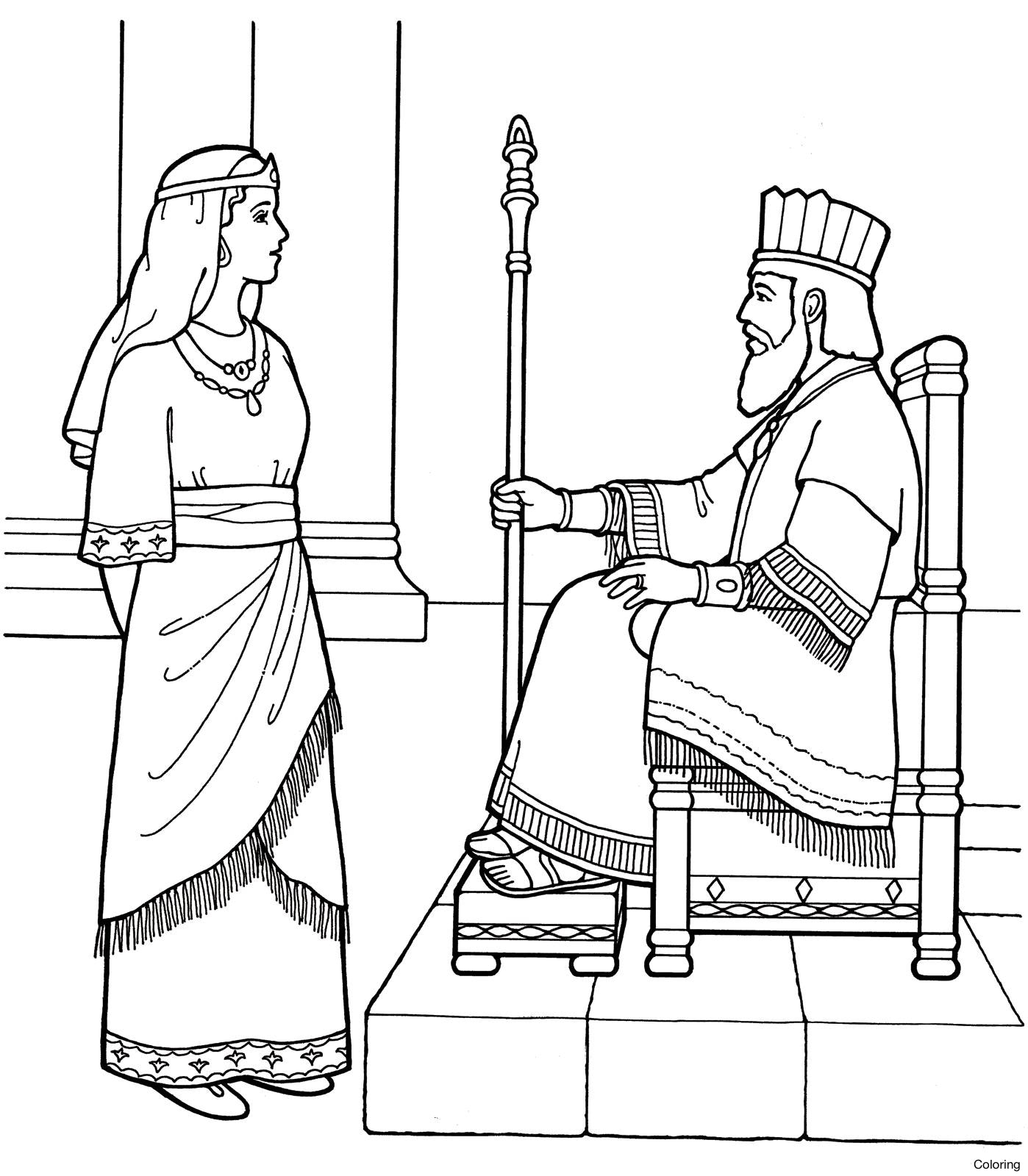 1398x1600 Now The Story Of Esther For Kids Growth Queen Coloring Pages Trend