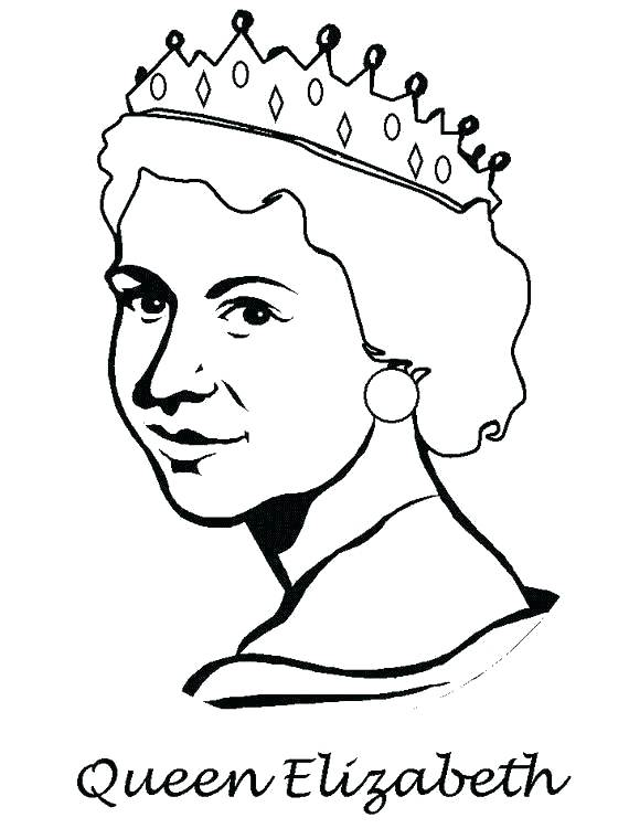 570x760 Queen Coloring Pages Queen Diamond Jubilee Coloring Pages Queen