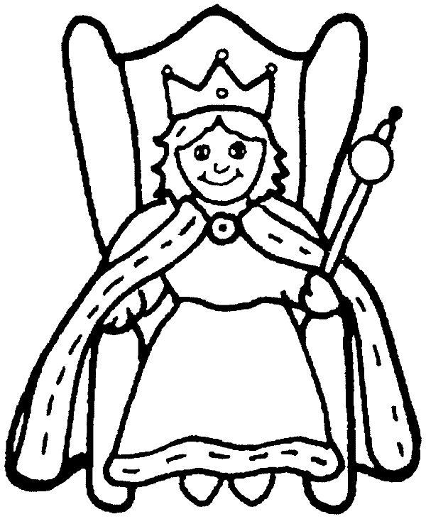 600x731 Queen Coloring Pages Queen Coloring Pages Create Photo Gallery