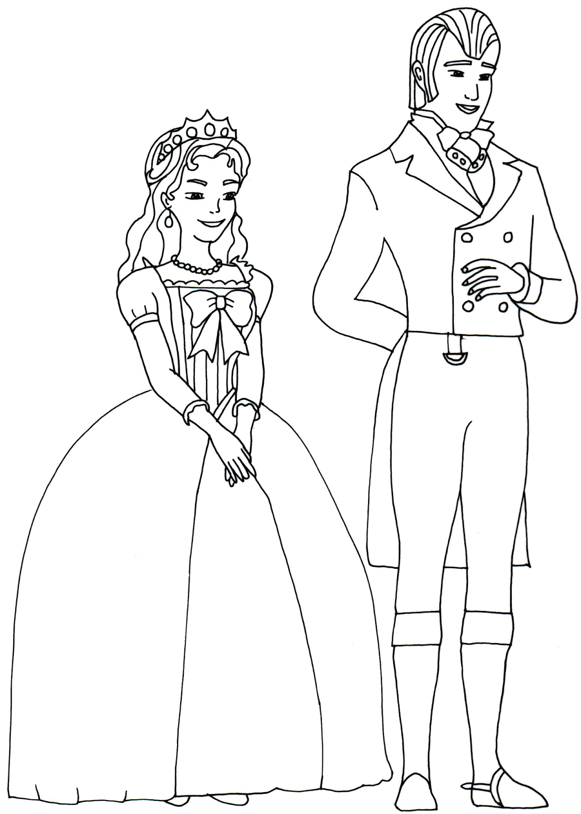 1141x1600 King And Queen Sofia The First Coloring Page Coloring For Kids