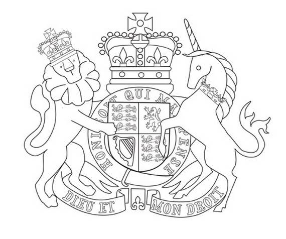 570x476 Queen Elizabeth Diamond Jubilee Coloring Pages