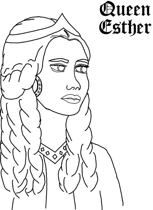 600x826 Queen Esther, Queen Esther Picture Coloring Page Coloring
