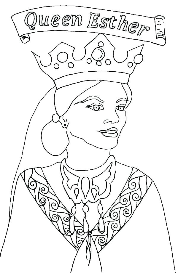 600x922 Queen Esther Coloring Page Becomes Queen Coloring Pages As Bat