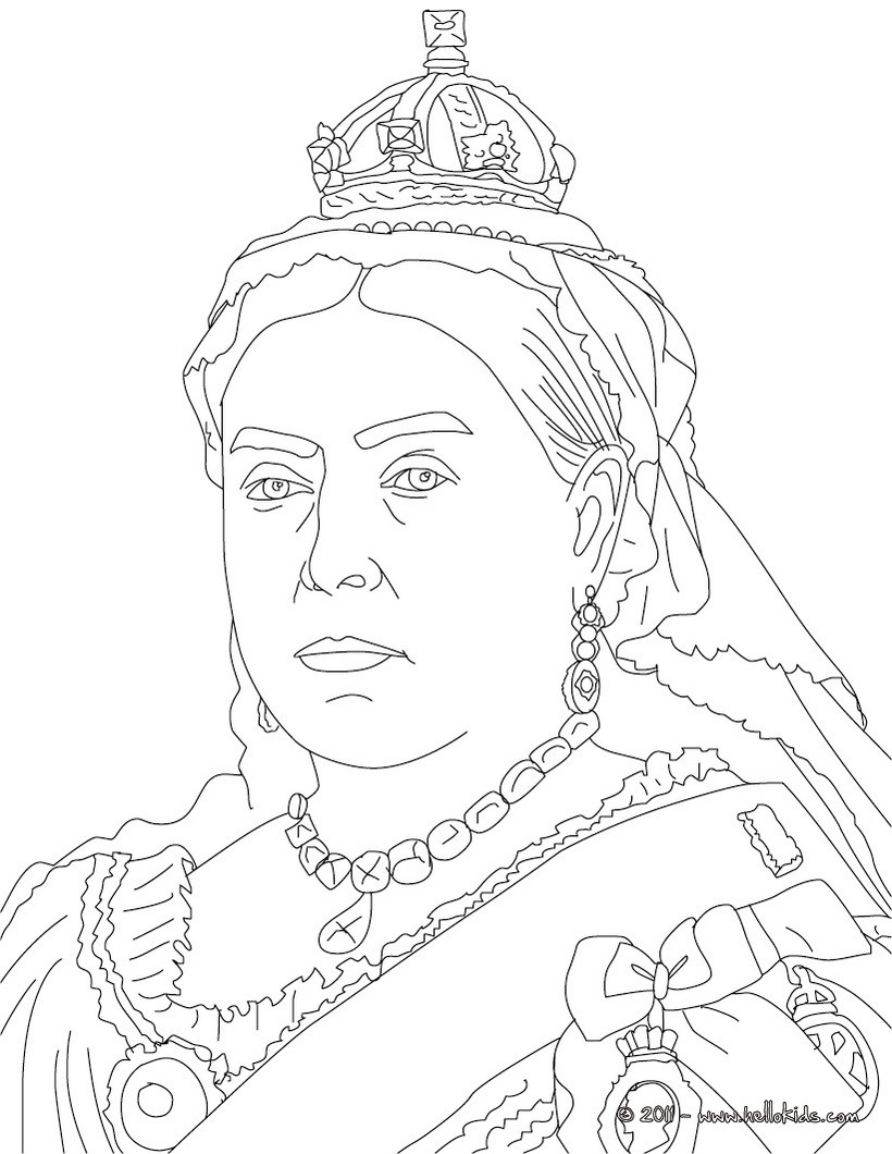 820x1060 Queen Victoria Coloring Pages