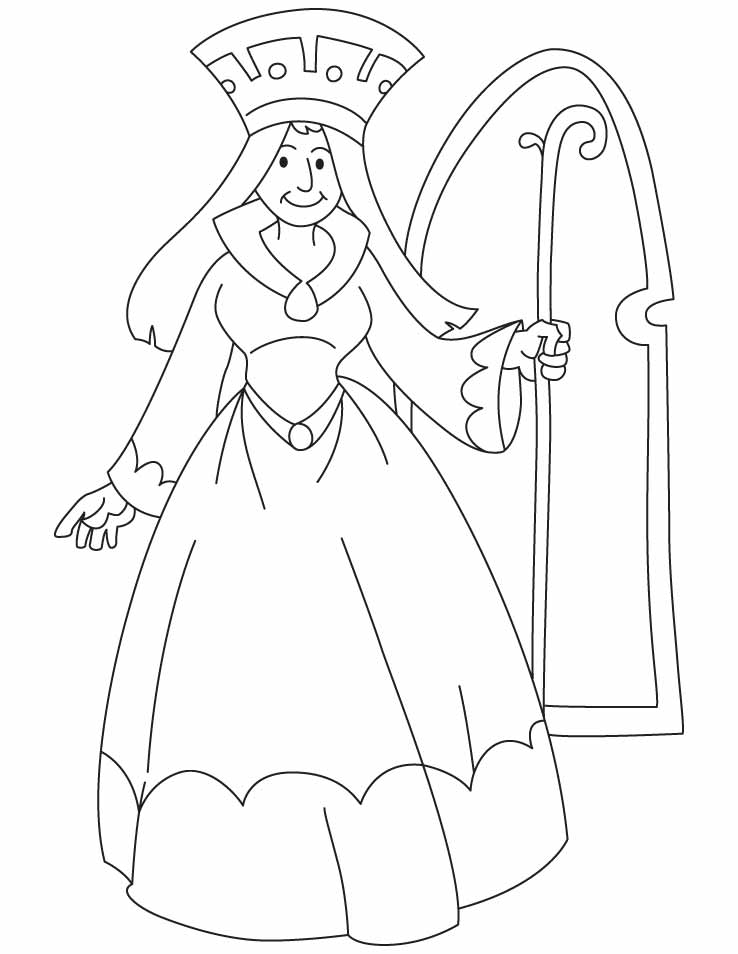 738x954 Sensational Design Ideas Queen Coloring Pages A Holding Scepter
