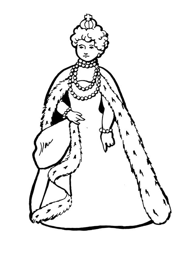 645x860 Simple Queen Coloring Pages