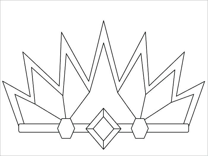 Queen Crown Coloring Page At Getdrawings Free Download