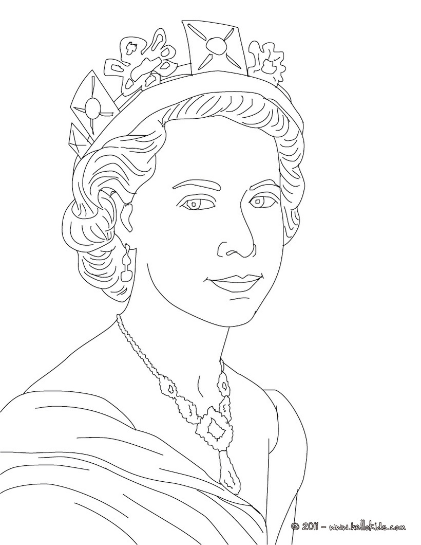 820x1060 Queen Elizabeth Ii Colouring Page, Great Printing Or Maybe
