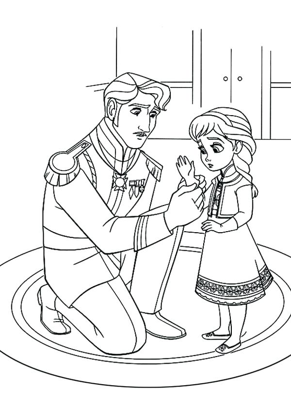 600x840 Elsa Coloring Sheet The Snow Queen Showing Her Magic Coloring Page