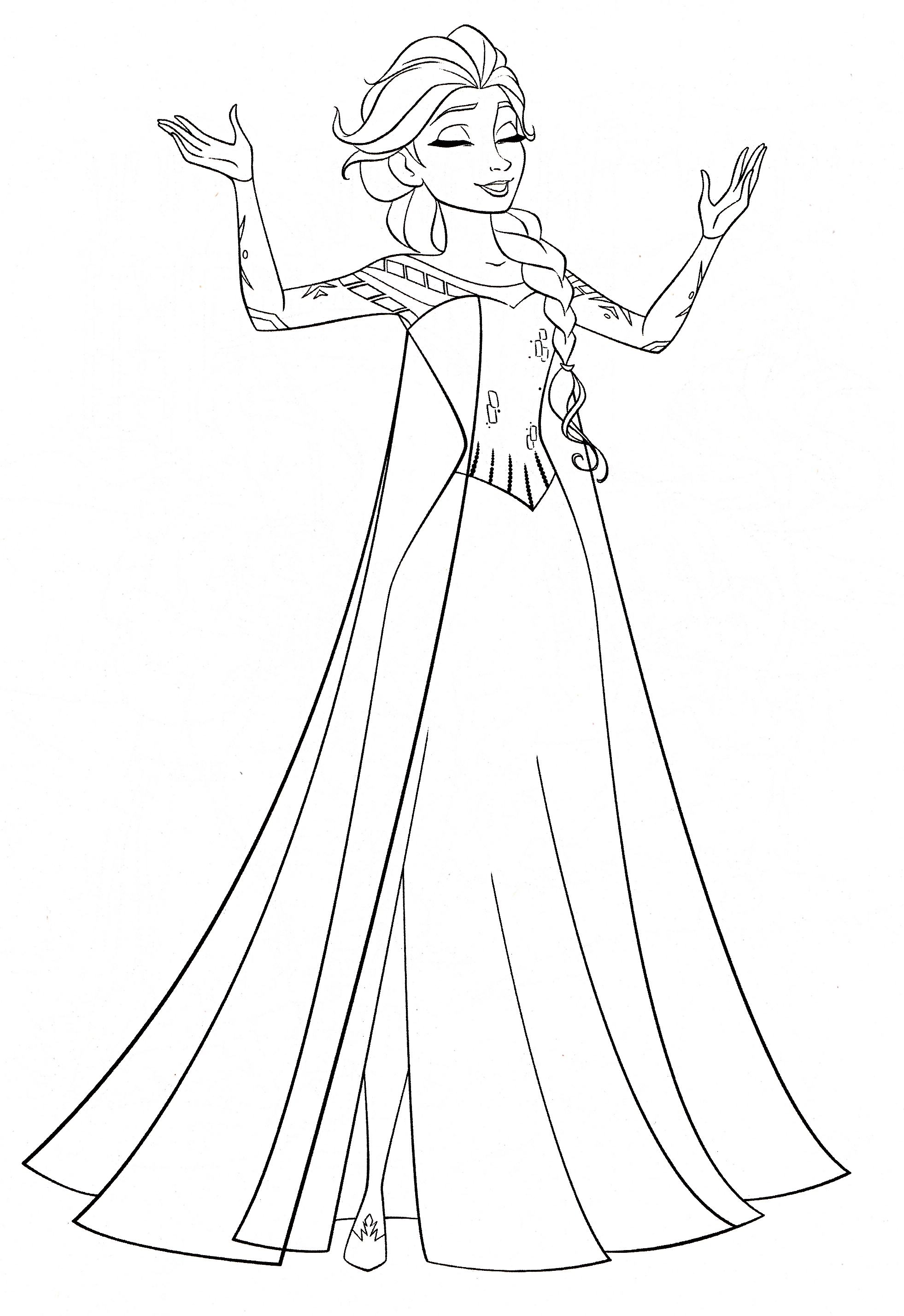 1962x2854 Elsa Frozen Free Coloring Page Frozen, Kids, Movies Coloring Pages