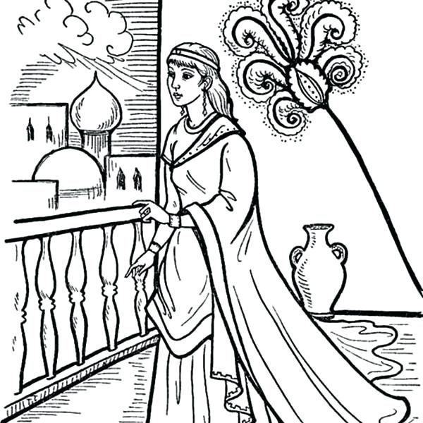 600x600 Queen Esther Coloring Page Best Queen Coloring Pages Queen Esther