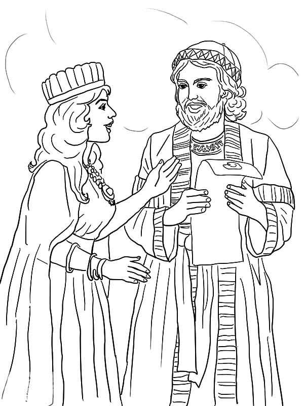 Queen Esther Coloring Pages Printable At Getdrawings Free Download