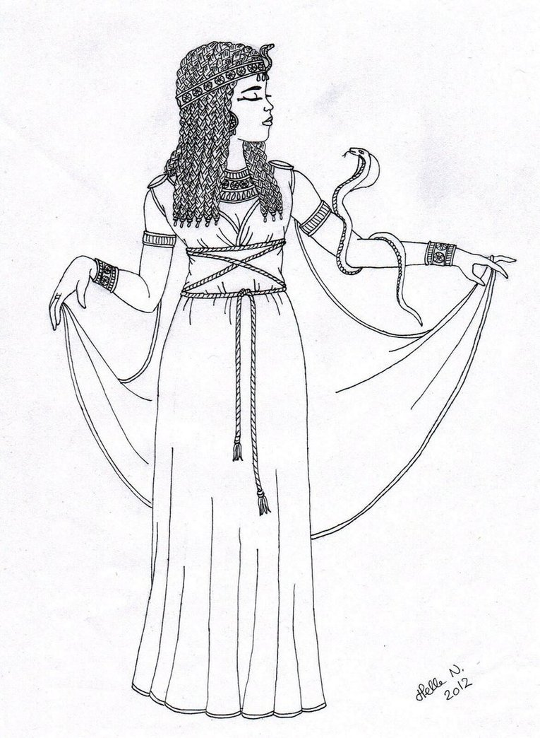 765x1044 Cleopatra Coloring Pages More Like Queen Tiye