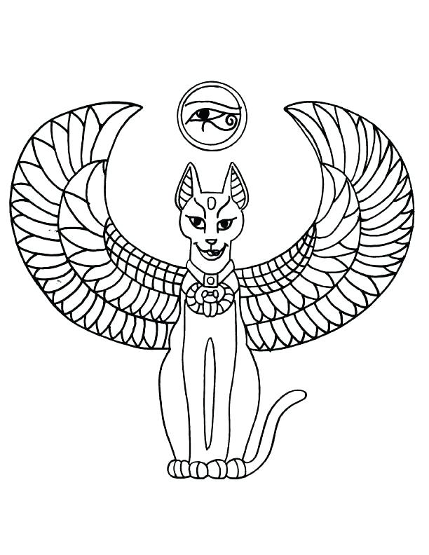 612x792 Egyptian Coloring Pages
