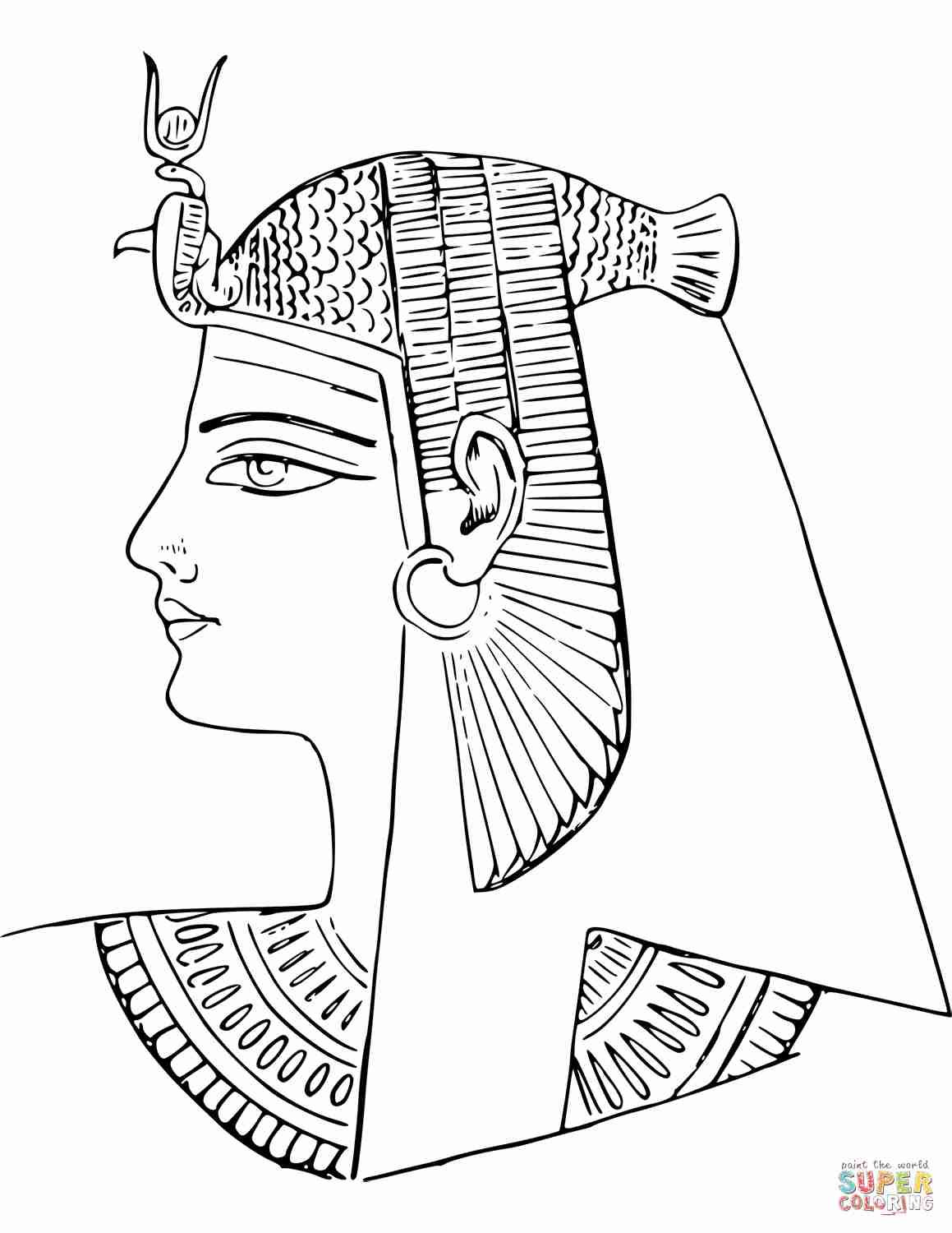 1159x1500 Egyptian Coloring Pages Horus And Nefertiti Deities Beauteous