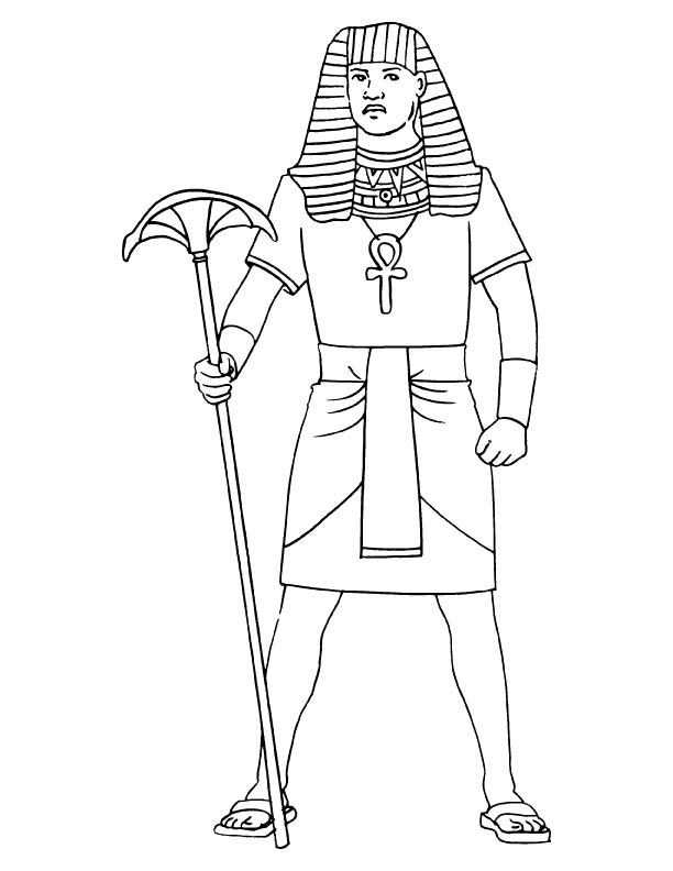 612x792 Free Ancient Egyptian Clothing Coloring Pages, Ancient Egyptian