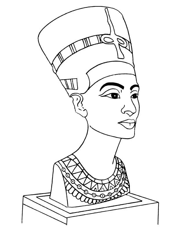 612x792 Nefertiti Bust Coloring Page Teaching Ideas