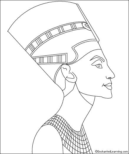 438x523 Queen Nefertiti Coloring Page