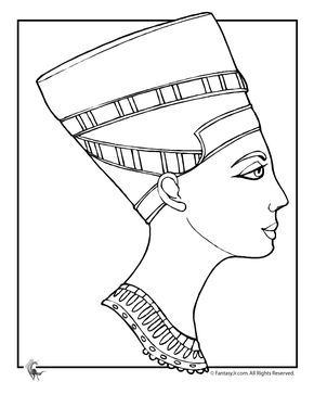 290x375 Ancient Egypt Coloring Pages Cleopatra Coloring Page Fantasy Jr
