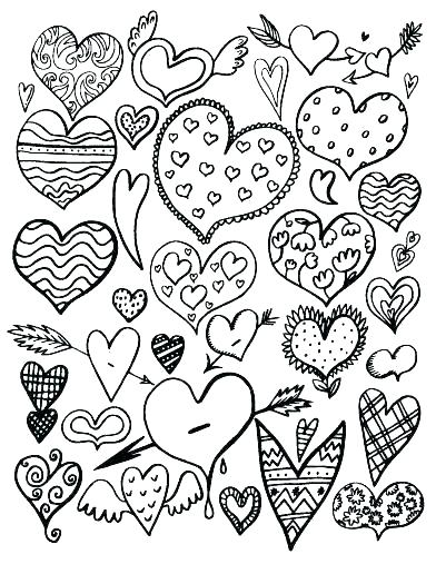 392x507 Coloring Page Heart Valentine Heart Candies Coloring Page