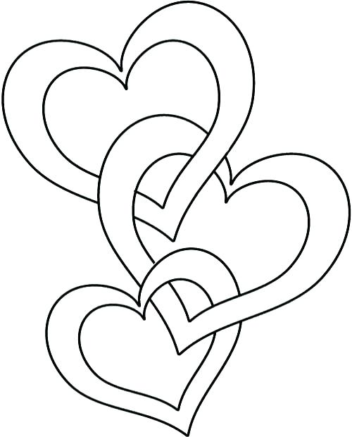 500x620 Coloring Page Heart Valentine Heart Coloring Pages Plus Valentine