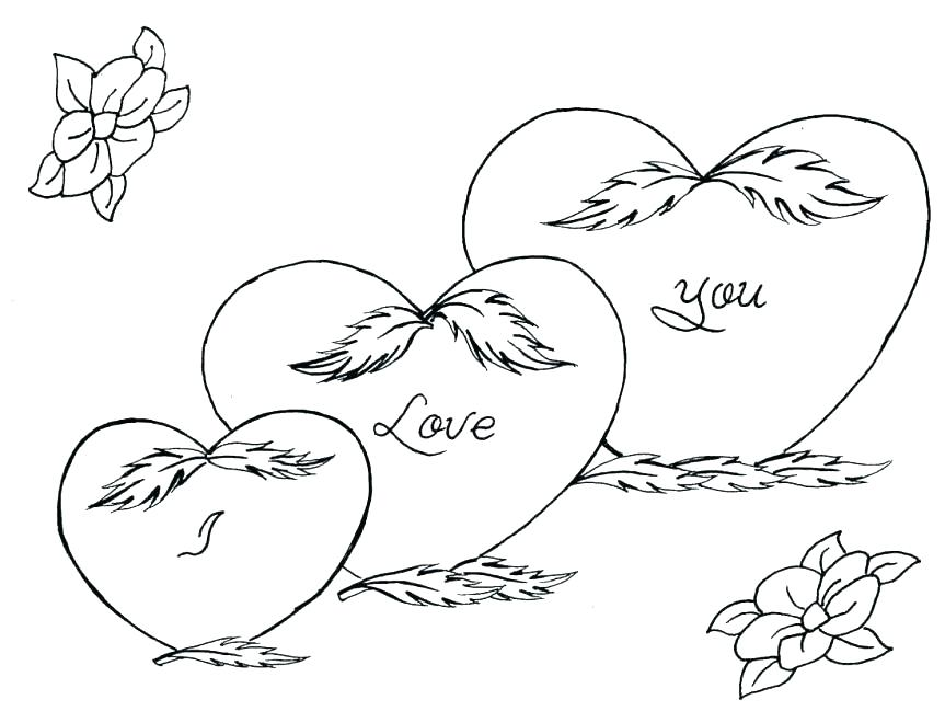863x660 Coloring Page Of A Heart Coloring Pages Of Roses And Hearts Roses